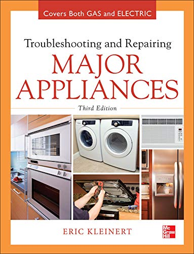 Troubleshooting and Repairing Major Appliances 9780071770187 Diagnose and repair home appliances and air conditioners using the latest techniques  The book has it all...written by a pro with 40 years of hands-on repair and teaching experience...this book is like brain candy --GeekDad (Wired.com) Fully updated for current technologies and packed with hundreds of photos and diagrams, this do-it-yourself guide shows you how to safely install, operate, maintain, and fix gas and electric appliances of all types. Troubleshooting and Repairing Major Appliances, Third Edition provides easy-tofollow procedures for using test meters, replacing parts, reading circuit diagrams, interpreting fault and error codes, and diagnosing problems. Featuring a new chapter on becoming a service technician, this practical, money-saving resource is ideal for homeowners and professionals alike. Covers all major appliances: Automatic dishwashers Garbage disposers Electric water heaters Gas water heaters Top load automatic washers Front load automatic washers Automatic electric dryers Automatic gas dryers Electric ranges, cooktops, and ovens Gas ranges, cooktops, and ovens Microwave ovens Refrigerators Freezers Automatic ice makers Residential under-the-counter ice cube makers Room air conditioners Dehumidifiers