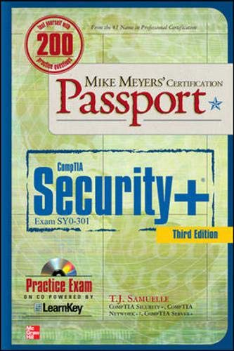 9780071770385: Mike Meyers' CompTIA Security+ Certification Passport, Third Edition (Exam SY0-301) (Mike Meyers' Certficiation Passport)