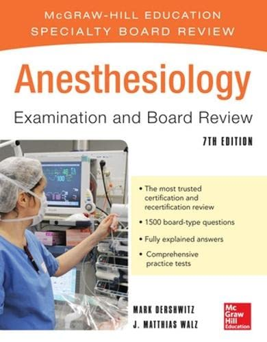 9780071770767: Anesthesiology Examination and Board Review 7/E (McGraw-Hill Specialty Board Review)