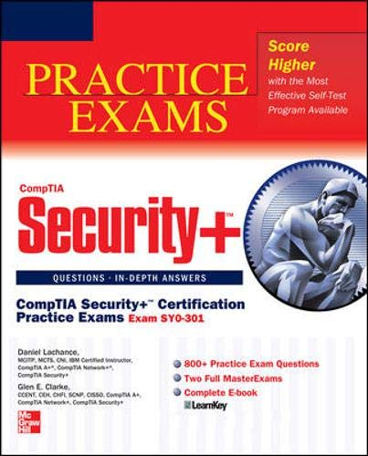9780071771207: CompTIA Security+ Certification Practice Exams (Exam SY0-301) (Certification Press)