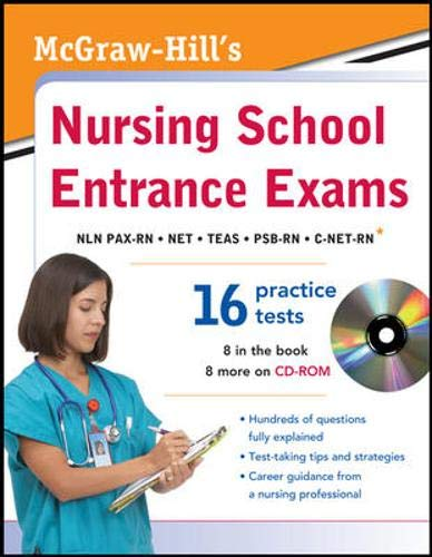 9780071771436: McGraw-Hill's Nursing School Entrance Exams with CD-ROM