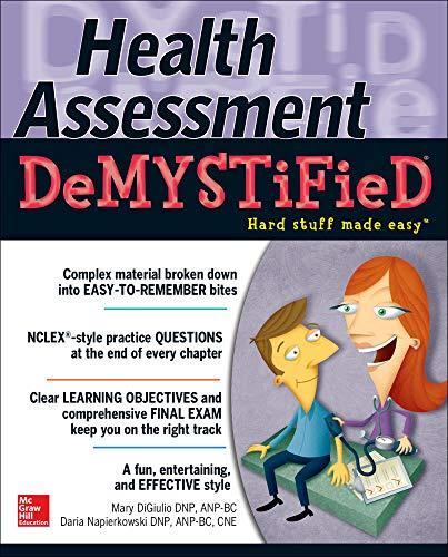 9780071772013: Health Assessment Demystified (Demystified Nursing)