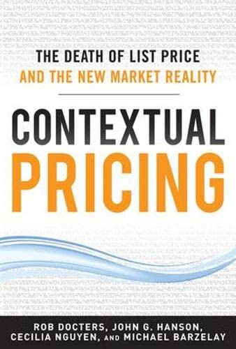 9780071772464: Contextual Pricing:  The Death of List Price and the New Market Reality