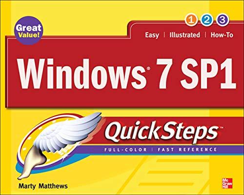 9780071772471: Windows 7 SP1 QuickSteps