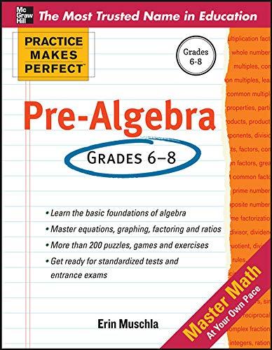 9780071772785: Practice Makes Perfect Pre-Algebra
