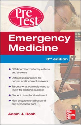 9780071773102: Emergency Medicine PreTest Self-Assessment and Review, Third Edition (Pretest Clinical Medicine)