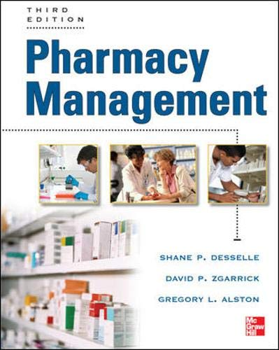 9780071774314: Pharmacy Management, Third Edition