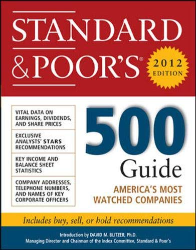 9780071775328: Standard and Poor's 500 Guide, 2012 Edition (Standard & Poor's 500 Guide)