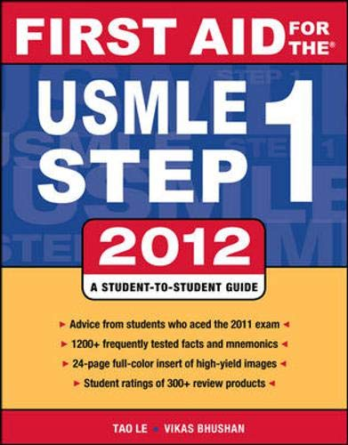 9780071776363: First Aid for the USMLE Step 1 2012