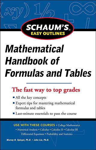9780071777476: Schaum's Easy Outline of Mathematical Handbook of Formulas and Tables, Revised Edition