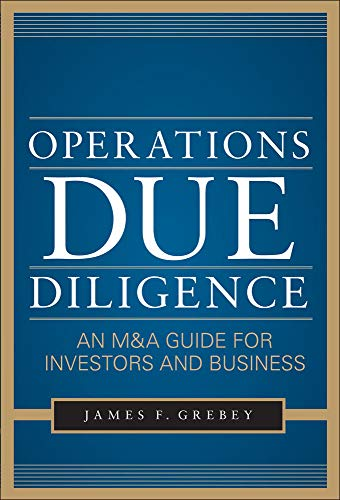 9780071777612: Operations Due Diligence:  An M&A Guide for Investors and Business