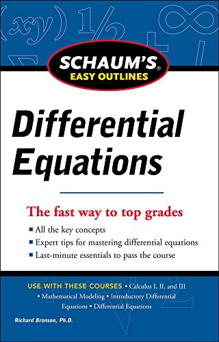 9780071779814: Schaum's Easy Outline of Differential Equations, Revised Edition (Schaum's Easy Outlines)