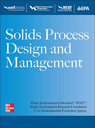 Solids Process Design and Management (0071780955) by Water Environment Federation