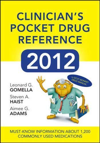 9780071781626: Clinicians Pocket Drug Reference 2012