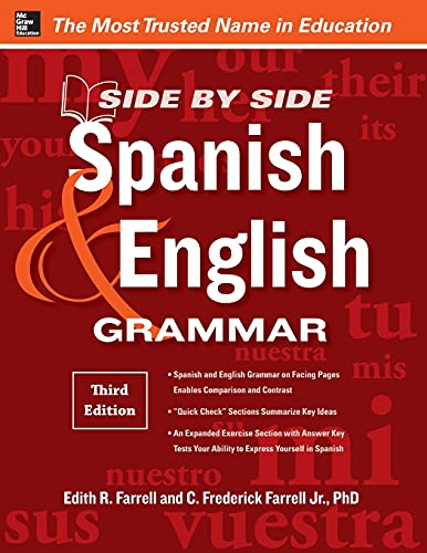 9780071788618: Side-By-Side Spanish and English Grammar, 3rd Edition