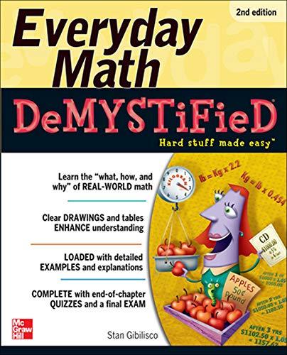 9780071790130: Everyday Math Demystified, 2nd Edition