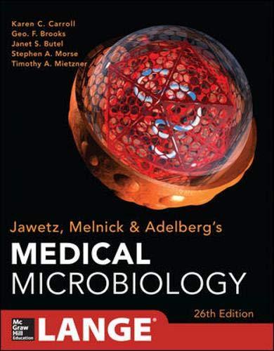 Jawetz melnick&adelbergs medical microbiology: geo. F. Brooks.