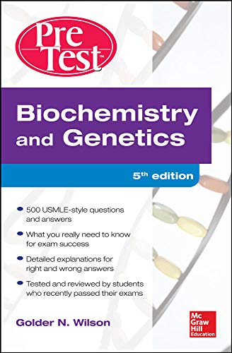 9780071791441: Biochemistry and Genetics Pretest Self-Assessment and Review 5/E