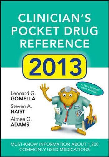 9780071791779: Clinicians Pocket Drug Reference 2013