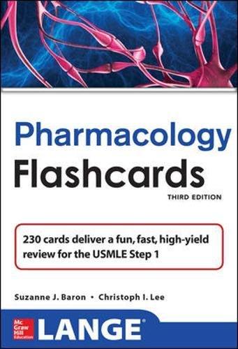 9780071792912: Lange Pharmacology Flash Cards, Third Edition (LANGE FlashCards)