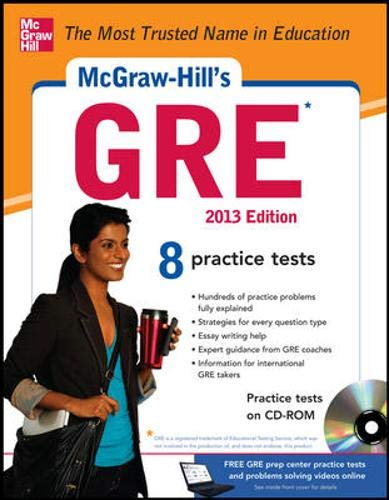 9780071794657: McGraw-Hill's GRE with CD-ROM, 2013 Edition (McGraw-Hill's GRE (W/CD))