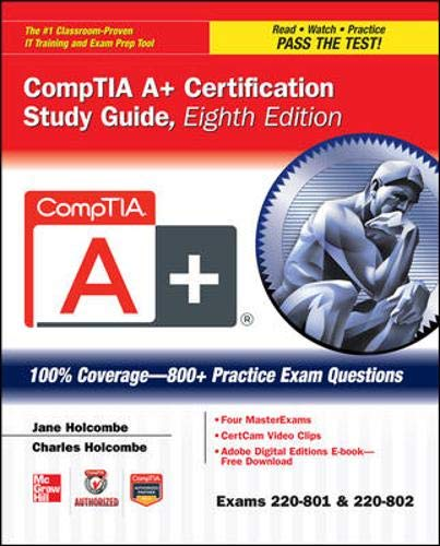 9780071795807: CompTIA A+ Certification Study Guide, Eighth Edition (Exams 220-801 & 220-802) (Certification Press)