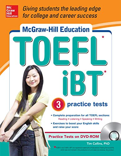 9780071796224: McGraw-Hill Education TOEFL iBT with 3 Practice Tests and DVD-ROM