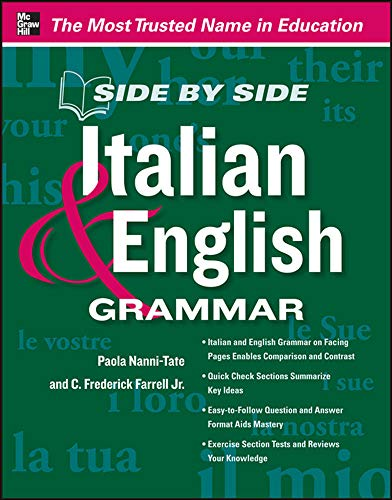 9780071797337: Side by Side Italian and English Grammar