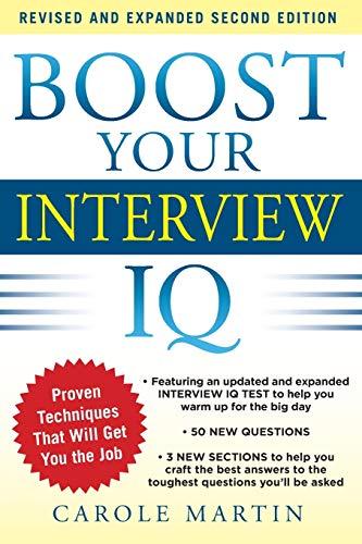 9780071797467: Boost Your Interview IQ 2/E (Business Books)