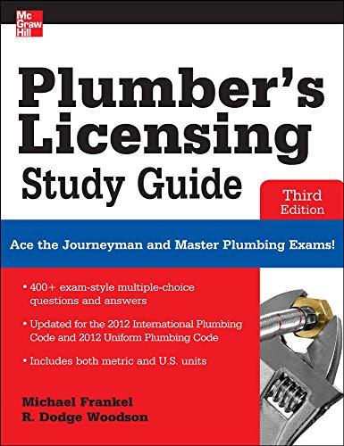 9780071798075: Plumber's Licensing Study Guide, Third Edition (P/L Custom Scoring Survey)