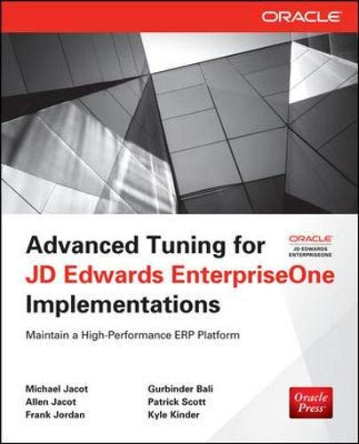 9780071798549: Advanced Tuning for JD Edwards EnterpriseOne Implementations (Oracle Press)