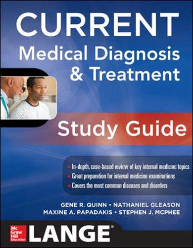 9780071799775: CURRENT Medical Diagnosis and Treatment Study Guide (LANGE CURRENT Series)
