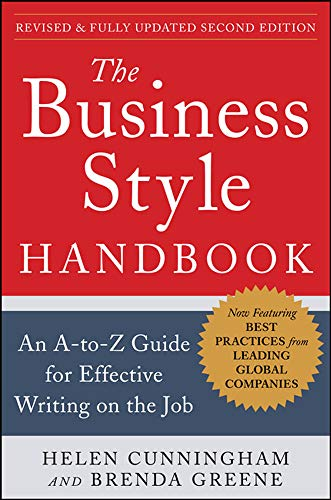 9780071800105: The Business Style Handbook, Second Edition: An A-to-Z Guide for Effective Writing on the Job