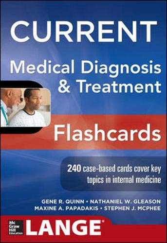 9780071800389: Current Medical Diagnosis and Treatment Flashcards