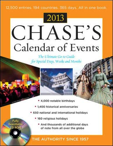 9780071801171: Chase's Calendar of Events 2013 with CD-ROM
