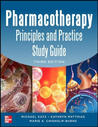 9780071801782: Pharmacotherapy Principles and Practice Study Guide 3/E