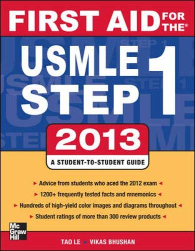 9780071802321: First Aid for the USMLE Step 1 2013 (First Aid USMLE)