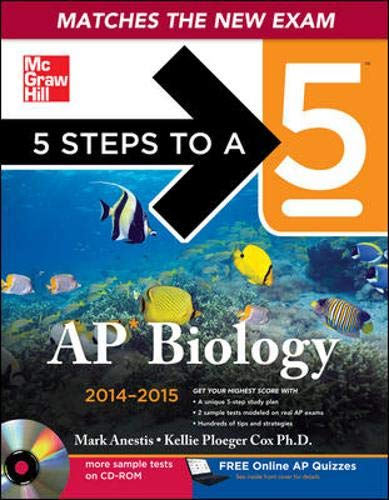 9780071802925: 5 Steps to a 5 AP Biology with CD-ROM, 2014-2015 Edition (5 Steps to a 5 on the Advanced Placement Examinations)