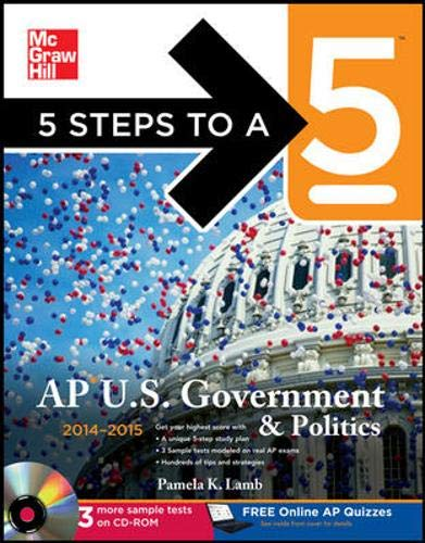 9780071803069: 5 Steps to a 5 AP US Government and Politics with CD-ROM, 2014-2015 Edition (5 Steps to a 5 on the Advanced Placement Examinations Series)