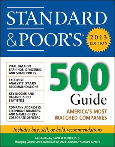 9780071803274: Standard and Poors 500 Guide 2013