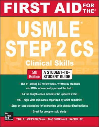 9780071804264: First Aid for the USMLE Step 2 CS, Fifth Edition (First Aid USMLE)