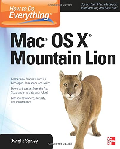 9780071804400: How to Do Everything Mac OS X Mountain Lion