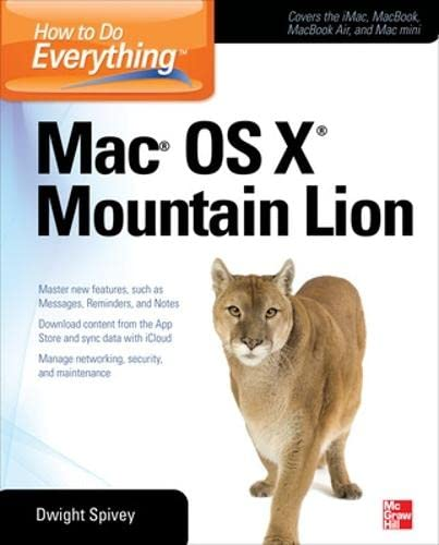 9780071804400: How to Do Everything Mac OS X Mountain Lion