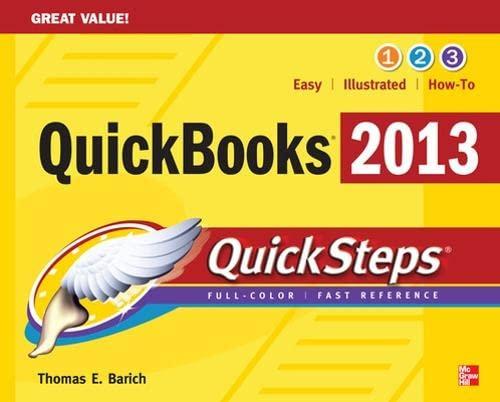9780071804752: QuickBooks 2013 QuickSteps