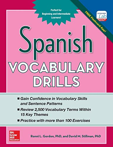 9780071805001: Spanish Vocabulary Drills (Grammar Drills)