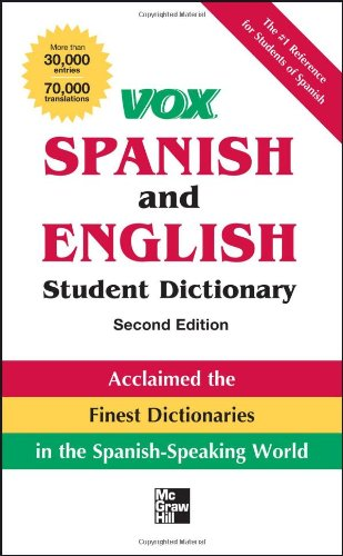 9780071808378: Vox Spanish and English Student Dictionary PB, 2nd Edition (Vox Dictionaries)