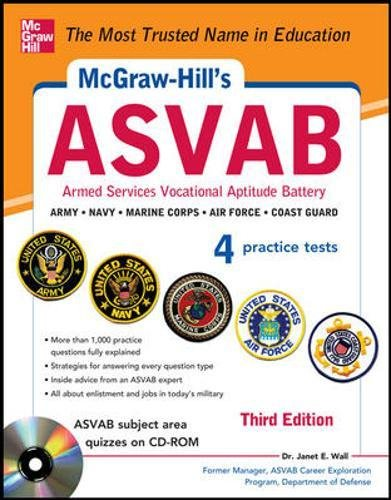 9780071809245: McGraw-Hill's ASVAB with CD-ROM, 3rd Edition: Strategies + Quizzes + 4 Practice Tests