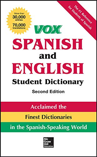 9780071814515: VOX Spanish and English Student Dictionary, Hardcover, 2nd Edition (Vox Dictionaries)