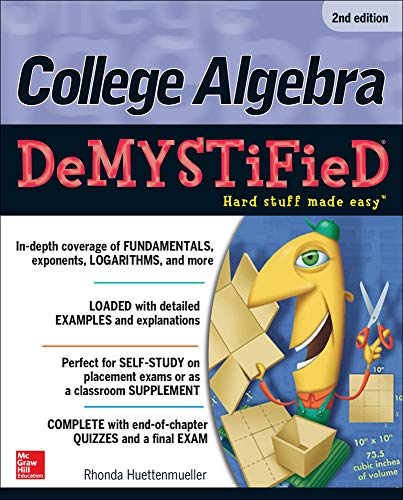 9780071815840: College Algebra DeMYSTiFieD, 2nd Edition