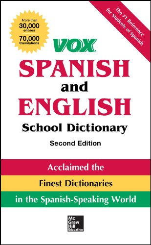 9780071816649: Vox Spanish and English School Dictionary, Paperback, 2nd Edition (Vox Dictionaries)